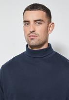 Superbalist - 2-pack milan long sleeve neck tee - navy & dark green