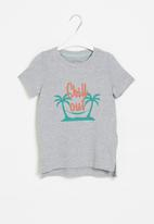 POP CANDY - Younger boys styled short sleeve top - grey