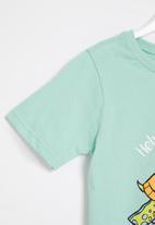 POP CANDY - Younger boys styled short sleeve tee - aqua