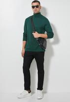Superbalist - Milan long sleeve roll neck tee - dark green
