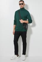Superbalist - Milan long sleeve roll neck tee - dark green