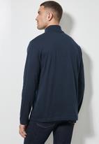 Superbalist - Milan long sleeve roll neck tee - navy