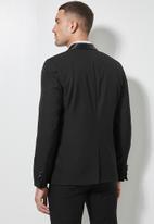 Superbalist - Don fashion slim fit 1-button double vent blazer - black