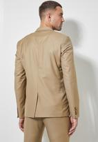Superbalist - Regent slim fit blazer - wool touch khaki