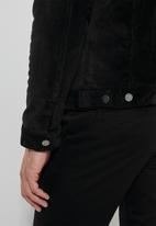 Superbalist - San Fran sherpa lined corduroy trucker jacket - black