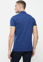 POLO - Calvin short sleeve tape fashion golfer - navy