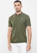 G-Star RAW - Dunda slim short sleeve polo - combat green