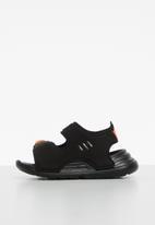 adidas Originals - Infants swim sliders - black & orange