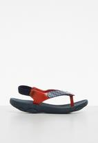 Klin - Printed sandal - navy & red