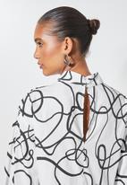 Superbalist - Hi neck tiered dress - white