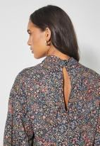 Superbalist - Hi neck tiered dress - multi