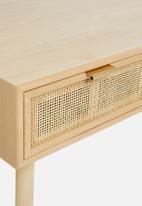 Sixth Floor - Rattan 2 drawer desk - natural