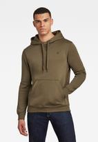 G-Star RAW - Premium core hooded long sleeve sweat - green