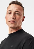 G-Star RAW - Korpaz mock T-shirt - black