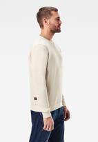 G-Star RAW - Premium core r long sleeve sweat - beige