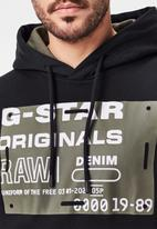 G-Star RAW - Originals hdd sw long sleeve sweat - black