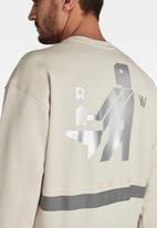 G-Star RAW - Hammer raw r long sleeve sweat - cream