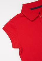 POLO - Girls dakota short sleeve golfer dress - red