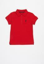POLO - Girls nina short sleeve golfer - red