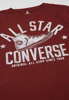 Converse - Converse boys collegiate shoe tee - burgundy