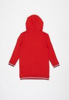 POLO - Girls gabriella hooded sweater dress - red