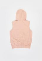 POLO - Girls emily sleeveless hooded jacket - pink