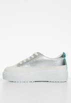 KANGOL - Saturn sneaker - silver & turquoise