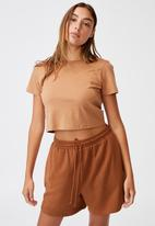 Cotton On - The baby tee - brown
