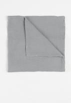 Baby Star - Double layer muslin swaddle - grey