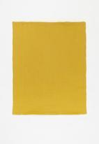 Baby Star - Double layer muslin swaddle - mustard