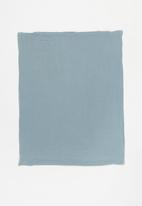Baby Star - Double layer muslin swaddle - blue