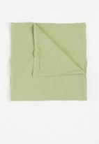 Baby Star - Double layer muslin swaddle - olive