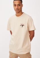 Cotton On - Tbar moto t-shirt - clay stone