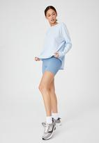 Cotton On - Active rib long sleeve top - baby blue