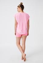 Cotton On - Active scoop hem T-shirt - pink sherbet