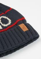 POLO - Boys cameron branded beanie- navy & red