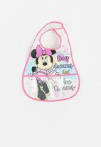 Character Group - Minnie mouse catcher bib - pink