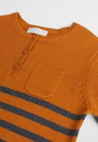 MANGO - Bread sweater - mustard