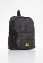 Lonsdale - Stripe backpack - black