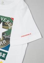 Converse - Cnvb camo mixed boxes tee - white