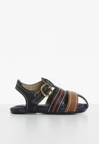 Klin - Cupcake sandal - navy & caramel
