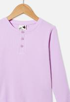 Cotton On - Lucy long sleeve henley - pale violet