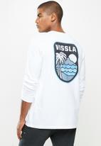 Vissla  - Diamond head long sleeve tee - white