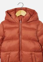 Cotton On - Frankie puffer jacket - chutney