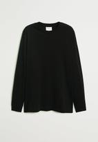 MANGO - Gareth T-shirt - black