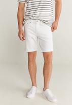 MANGO - Rock bermuda shorts - white