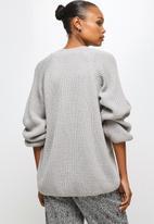 edit - Raglan rib jumper - grey