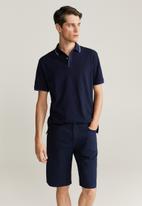 MANGO - Roller bermuda shorts - navy