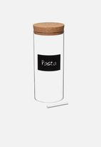 Kitchen Craft - Eco-friendly  natural elements glass storage canisters - large