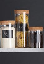 Kitchen Craft - Eco-friendly natural elements glass storage canister - medium
